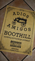 Tombstone Adios Amigos WILD WEST POSTERS, Novelty reproductions,