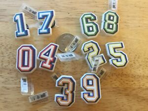 NUMBERS 0 THRU 9 IN DIFFERENT COLORS AUTHENTIC JIBBITZ SHOE CHARM FIT CROCS