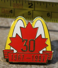 McDonalds 30th Anniversary Canada 1967 - 1997 Employee Collectible Pin Button
