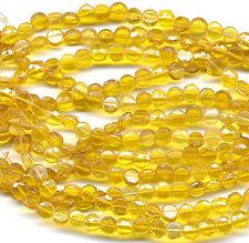 Vintage 6mm Nailhead Beads Translucent Golden Topaz Glass 150 Pcs.