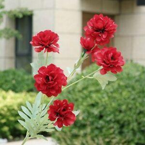 Houseplant Dahlia Chic Artificial Flower Home Wedding Party Road Guide 1Pc Decor