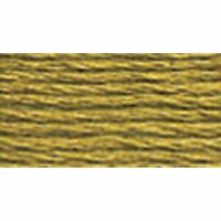 DMC 117-370 Mouline Cotton Six-Strand Floss Thread, Medium Mustard