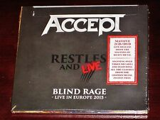 Accept: RESTLESS AND LIVE - Ciego Rage en Europa 2 Cd + Set de DVDS 2017 NB
