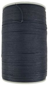 Black Wax cotton cord 2 mm