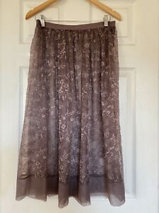 Victorias Secret Very Sexy Sheer Floral Lace Midi Skirt See Through Large New