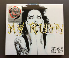 MY RUIN - Speak & Destroy CD Like NEW 2004 Reissue Digipak w/ Lyrics Goth Rock