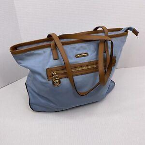 MICHAEL KORS Kempton Light Blue  Nylon Tote Bag  Purse Handbag