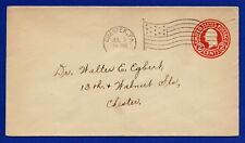 US 1915 Cover #U429c Die4 Postal Stationery Nice Flag Cancel Chester PA