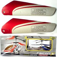 """4 Rotorblätter B """"OBEN"""" rot für Metall Mini Koaxial RC Falcon X 777"""