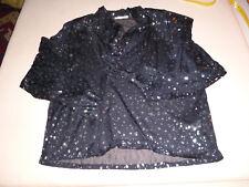 Orig VERA MONT Damen Bluse schwarz silber 38 40 Schalkragen elegant lange  Ärmel 1a4647e55c