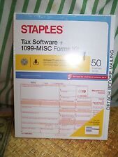 1099-Misc Tax Form Set 50 count 5-Part Sets  2016 Adams Software CD Staples