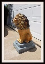 Concrete  Mold  Large Lion Statue Latex rubber / Fiberglass