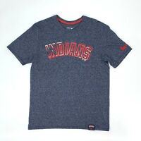 Cleveland Indians Nike Tee Men's Size L Blue Short Sleeve Crew Neck Baseball Tee