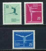 31350) DDR 1961 MNH Women'S Gymnastics 3v. Scott #555/57