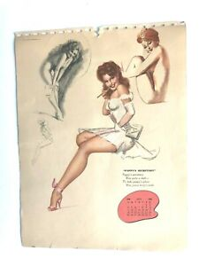 mac PHERSON - july  1948  art  illustrated   PIN-UP/CHEESECAKE  calendar  page