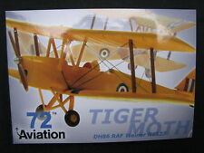 Post Card Aviation 72 De Havilland Tiger Moth DH86 RAF Trainer N6537