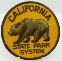 """California State Park System Bear 4"""" Round Patch Iron-On Applique Back Patch"""