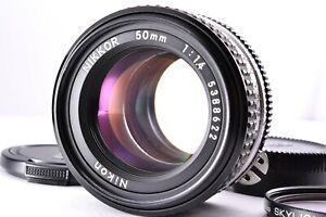 Mint Nikon 50mm f/1.4 Ai-s AIS Lens Prime Manual SLR From JAPAN MF Standard Caps