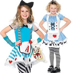 Girl Alice Miss Wonderland Adorable Fancy Dress Costume Age 3 4 5 6 7 8 9 10 11