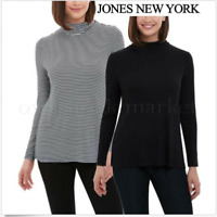Jones New York Women's Long Sleeve Scrunched Neck Top Size:XS-M-XLXXL NWT!!
