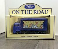 VINTAGE LLEDO TETLEY TEA ON THE ROAD 1992 DELIVERY TRUCK BOXED COLLECTABLE