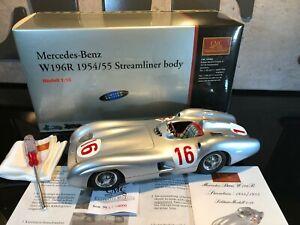 MERCEDES 1954-55 W196R STERLING MOSS N°16 - 4000 EX - CMC M057 1/18