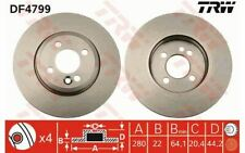 2x TRW Front Brake Discs Vented 280mm for MINI DF4799 - Discount Car Parts