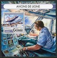 GUINEA  2017 COMMERCIAL AIRCRAFT SOUVENIR SHEET MINT