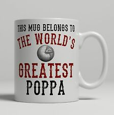 Poppa World's Greatest best Birthday idea Christmas Gift present Tea Coffee Mug