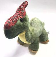 """Hug  Fun Dinosaur 17"""" Plush Green Yellow Red Stuffed Toy"""