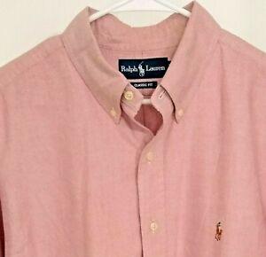 Ralph Lauren Men' Button Front Long Sleeve Dress Shirt Size 17/34-5 Classic