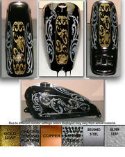 MOTORCYCLE GAS TANK AND FENDER DELUXE DECAL SET