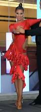 Red ballroom latin dress (or salsa) S/M