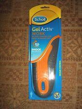 Scholl men's Gel Active Work, memory foam insoles size men 7 - 12 new