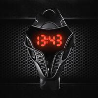 Herren LED Digital Beobachten Dreieck Dial Geschäft Armbanduhr Watch Schwarz Neu