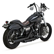 Vance & Hines Twin Slash Slip-Ons Schwarz für Harley-Davidson Dyna 07-15 TÜV!