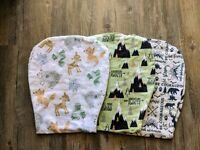 Set Of 3 Handmade Brand New Wilderness Baby Burpcloths