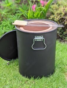 Mini Portable Tandoor Clay Oven - Small Tandoori Drum BBQ - Tandoori Food - Naan