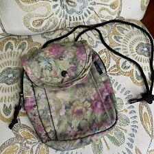 Outdoor Prosucts Floral Tapestry Bag Shoulder Bag Small Zip Green Flowers USA