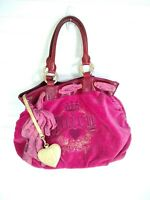 Juicy Couture Magenta Velour Large Bow DayDreamer