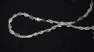 """Faceted 8"""" Strand Nuggets Jewelry Beads Herkimer Diamond Quartz Quality UHJ5121"""