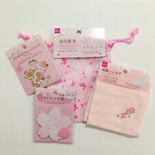 Daiso Japan Cherry Blossom Sakura Kawaii Bundle Stationery Stickers Bag Set