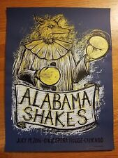 ALABAMA SHAKES CIVIC OPERA HOUSE CHICAGO CONCERT POSTER LIMITED EDITION #51/150