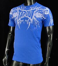 TapOut Ufc Aroumt Team Blue Atletic Sport mens T shirt size Small