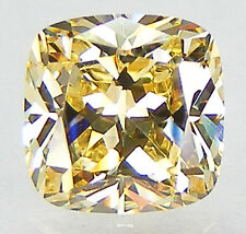 TOP QUALITY 6A++ CUSHION 8x8 MM. YELLOW CANARY RUSSIAN CUBIC ZIRCONIA CZ