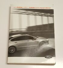 2014 FORD FUSION HYBRID ENERGI OWNERS MANUAL USER GUIDE S LUXURY TITANIUM 2.0L