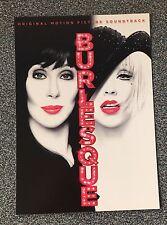 BURLESQUE (Soundtrack) - Promotional Postcard feat. CHER & Christina Aguilera