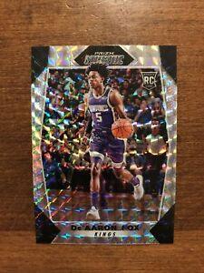 De'Aaron Fox 2017-18 Mosaic Silver Prizm Rookie #40 Sacramento Kings RC