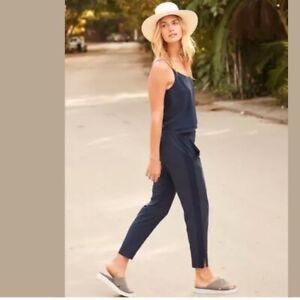 ATHLETA Women's Navy Blue BROOKLYN ANKLE PANT, Joggers! GORGEOUS-SZ. 4