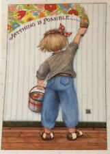 Mary Engelbreit Artwork-Anything is Possible- Handmade Magnet
